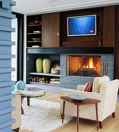 TV above fireplace information!