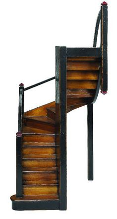 Mission Staircase Architectural Model Cherry Wood