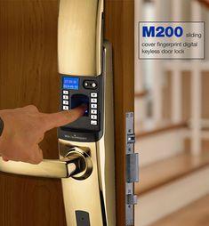 M200 sliding cover fingerprint digital keyless door lock with CE certificate