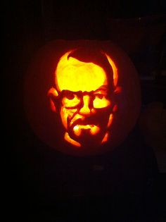 My daughter carved this for dad!! Walter White ofcourse!!