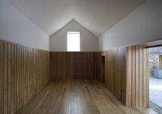 Wood and plaster. The Ballymorris House by Donal Colfer Architects.