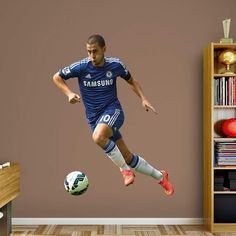 Fathead Chelsea FC Eden Hazard No. 10 Wall Decal - 66-66162