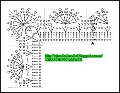 PATRONES=GANCHILLO = CROCHET = GRAFICOS =TRICOT = DOS AGUJAS: LINDA COLECCIÓN DE PUNTILLAS PARA TEJER A CROCHET