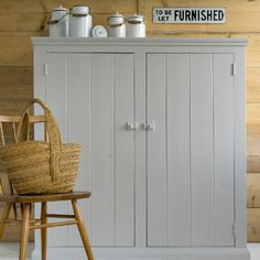 Tongue and groove cupboard for my hidden washing machine and sink in the shower room