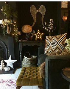 living room color schemes Living room desgn with fireplace color schemes 45 Best Ideas Dark Living Rooms, Living Room With Fireplace, New Living Room, Living Room Furniture, Living Room Decor, Black Fireplace, Room Paint Colors, Paint Colors For Living Room, Wall Colors