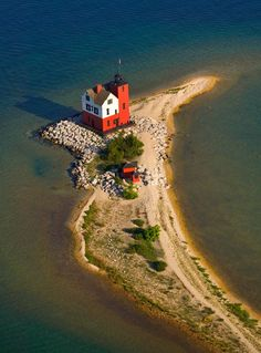 Round Island Lighthouse - Mackinaw Island, Michigan