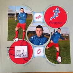 Tennis, Rugby Sport, Kids Scrapbook, Book Layouts, Sports, Photos, Dancing With The Stars, Hs Sports, Pictures