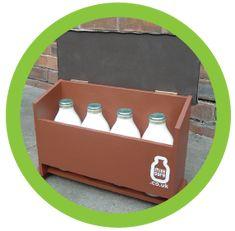 Www Milksafe Co Uk Doorstep Milk Box Wall Mounted Storage Pinterest Bottle
