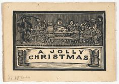 "Julius J. Lankes, American, 1894-1960: ""A Jolly Christmas,"" 1918; woodcut.  | Ackland Art Museum | The University of North Carolina at Chapel Hill"