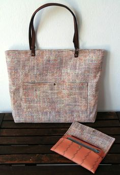 Tote Bag tutorial Tweed, Burlap, Reusable Tote Bags, Creative, Blog, Tote Tutorial, College Tote, Dressmaking, Manualidades
