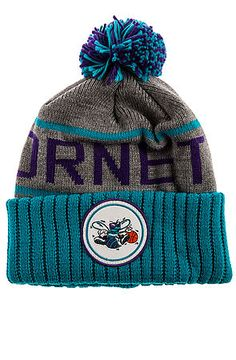 5f3d82ddc49 The Charlotte Hornets High 5 Beanie in Grey Charlotte Hornets
