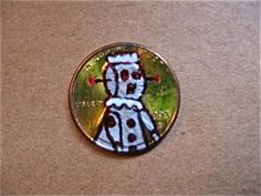 Is this Rosie from The Jetsons painted onto a penny???