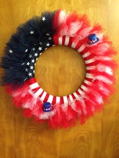 American Flag tulle wreath