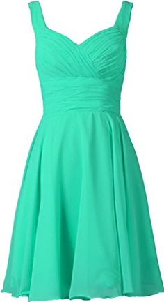 ANTS Women's V-neck Chiffon Bridesmaid Dresses Short Prom Gown Size 2 US Aqua ANTS http://www.amazon.com/dp/B00QQKFG52/ref=cm_sw_r_pi_dp_jS0Uwb17Q824D