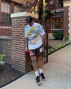 Cool Outfits For Men, Swag Outfits Men, Summer Outfits Men, Trendy Outfits, Mode Streetwear, Streetwear Fashion, Mens Fashion Wear, Boy Fashion, Black Men Street Fashion