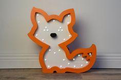 Night light fox /Wooden cat night light/ Kids by HappyMoonLV