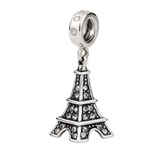 "T400 Jewelers ""Eiffel Tower"" 925 Sterling Silver with Cry…"