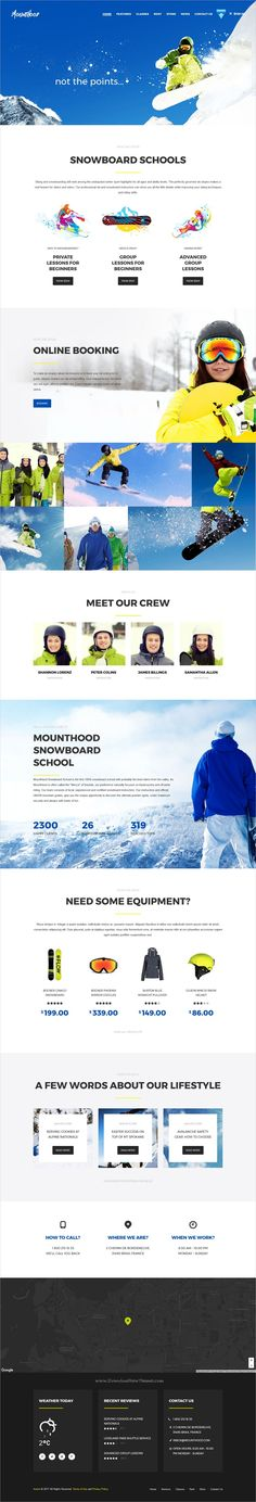 Mounthood is clean and modern design 3in1 responsive #HTML template for #ski / #snowboard schools or resorts website download now➩ https://themeforest.net/item/mounthood-ski-and-snowboarding-html-template/19887513?ref=Datasata