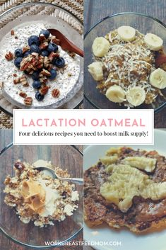 Four lactation oatmeal recipes to help increase breast milk supply lactation foods to boost milk supply work breastfeed mom breastmilk lactation latte Lactation Oatmeal Recipe, Lactation Smoothie, Oatmeal Recipes, Lactation Foods, Healthy Lactation Cookies, Lactation Recipes, Boost Milk Supply, Increase Milk Supply, Food For Breastfeeding Moms