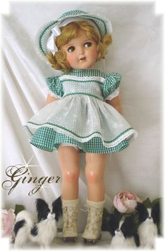 "18"" Ideal Ginger doll in original outfit...precious!"