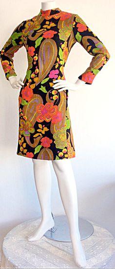 PSYCHEDELIC 1960s Vintage Flower Dress / by brentedwardvintage
