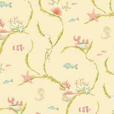 I pinned this Sea Life Trail Wallpaper in Dark Cream from the Seaside Chic Wallpaper event at Joss and Main!
