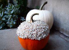 DIY pearlized pumpkin