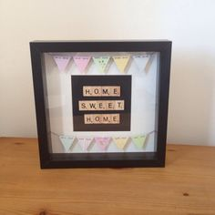 Home Sweet Home Scrabble Frame £25 by HandcraftedByChloe on Etsy