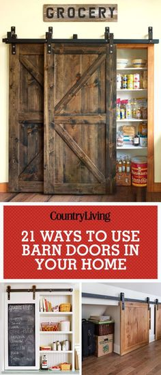 Many way to use barn doors in the home! Pin these ideas!