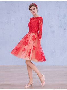 elegant long sleeve #homecomingdress #SIMIBridal