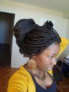 Good protective style option. I wonder if my hair is long enough yet