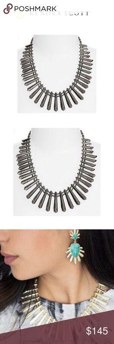 Kendra Scott Jill Statement Necklace NWT. Gunmetal. Kendra Scott Jewelry Necklaces