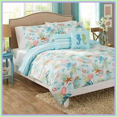 beach sheets for bed-#beach #sheets #for #bed Please Click Link To Find More Reference,,, ENJOY!! Robins, Beach Style Bedding, Bedroom Themes, Bedroom Decor, Bedding Decor, Bedroom Ideas, Wall Decor, Cute Bed Sheets, Ocean Bedding
