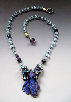 Kyanite, Aquamarine, London Blue Topaz, Amethyst, Freshwater Pearls... LuciaAntonelli.com