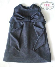 Sweet Summer dress for girls. PDF Sewing pattern