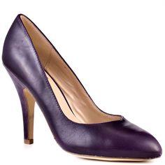 DV by Dolce Vita – Notty – Purple Leather Heels High Heels Stilettos, Stiletto Heels, Pumps, Shades Of Purple, 50 Shades, Purple Shoes, Purple Leather, Court Shoes, Leather Heels