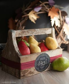 Free printables: Fall food gift labels by Lia Griffith