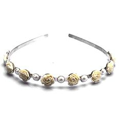 FUMUD Rhinestone Silver NEW ARRIVAL Rhinestone Crystal Handcraft Girl Women Bowknot Hair Hairband Hair Band Headband Accessories 5 * Details can be found by clicking on the image.