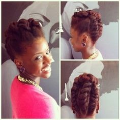 Wow, look at her updo!