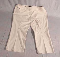 1e531753b662b Women s Talbots Capris Pants Petites Ivory Plus Size 18 WP  Talbots  Capris  Capri Pants