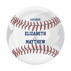 Baseball Ball Player Fan Wedding Or Shower 7 Inch Paper Plate This paper plate features a  sc 1 st  Pinterest & Baseball Ball Sports Congratulations Napkin | Napkins