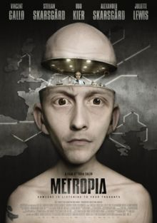 Metropia is a 2009 Swedish adult animated science-fiction film directed by Tarik Saleh. The screenplay was written by Fredrik Edin, Stig Larsson, and Tarik Saleh after a story by Tarik Saleh, Fredrik Edin and Martin Hultman. The film uses a technique where actual photographs have been altered and heavily stylized in a computer program, and then animated. The visual style is inspired by the works of Terry Gilliam, Roy Andersson and Yuriy Norshteyn.