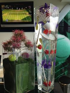 Wimbledon flowers in the Skyview Suites