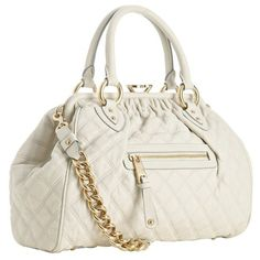 Marc Jacobs ivory quilted leather 'Stam' kisslock medium bag ❤ liked on Polyvore featuring bags, handbags, bolsas, purses, accessories, marc jacobs handbags, hand bags, handbags purses, kiss clasp purse and ivory bag