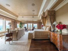 Elegant: This is one of the bedrooms in the sprawling estate...