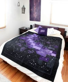 Urban Threads: Unique and Awesome Embroidery Designs. Machine embroidered star quilt.