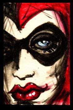 Harley Quinn stretched canvas print by ShayneoftheDead on Etsy, $20.00