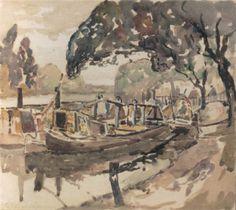 Alfred Sisley (French, 1839–1899) - La Seine à Bougural, Paris