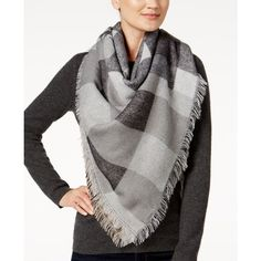 Steve Madden Plaid Blanket Wrap & Scarf in One ($27) ❤ liked on Polyvore featuring accessories, scarves, neutral, wrap shawl, patterned scarves, steve madden, plaid wraps shawls and plaid scarves