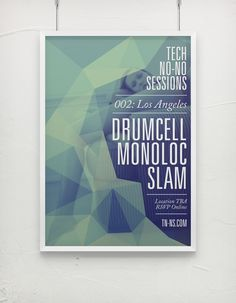 Event Posters by Emilio José Bernard, via Behance